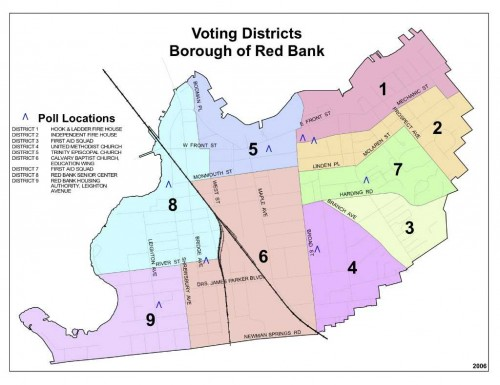 RB voting districts map