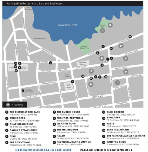 COCKTAIL WEEK MAP