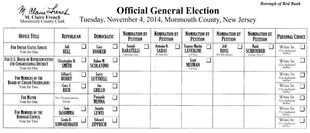 RED BANK: ELECTION DAY 2014 - Red Bank Green