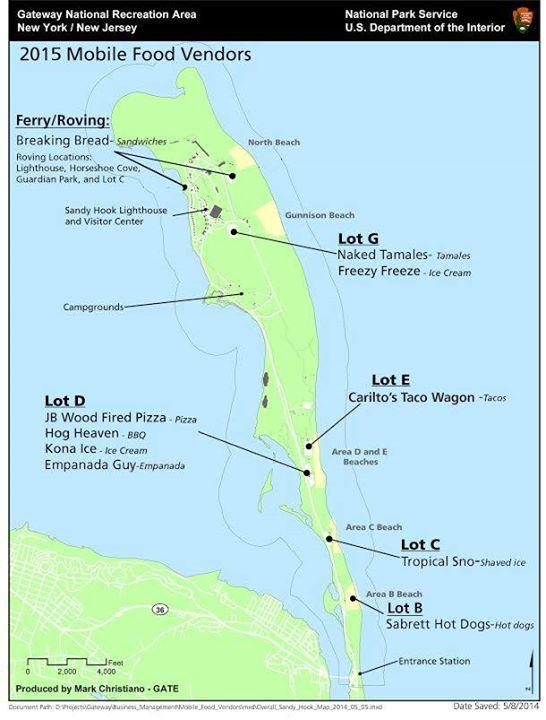 Sandy Hook Food Truck Map