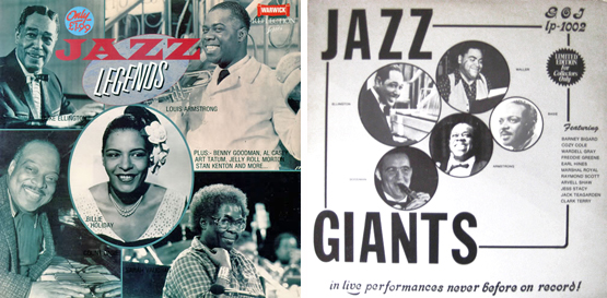 Basie Armstrong Jazz LPs