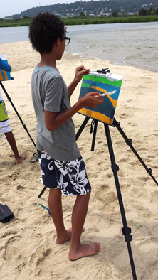 RBCS painting on beach
