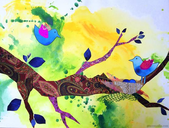 Birds,_Little_Green_by_Grace_Modla
