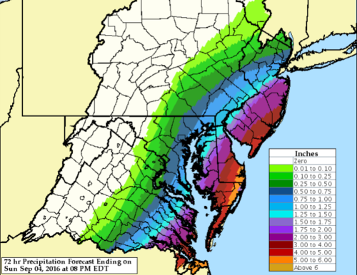 hermine rainfall forecast 090216
