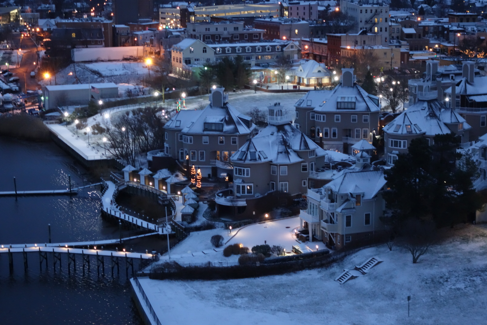 Bankfirst Winter Garden Part - 30: A Light Coat Of Snow And Sprinkling Lights Alongside The Navesink River In  Red Bank Made For A Pretty Vignette Friday Morning, In This Photo Taken  From ...
