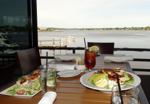 WHAT'S FOR LUNCH? SALAD WITH RIVERSCAPE