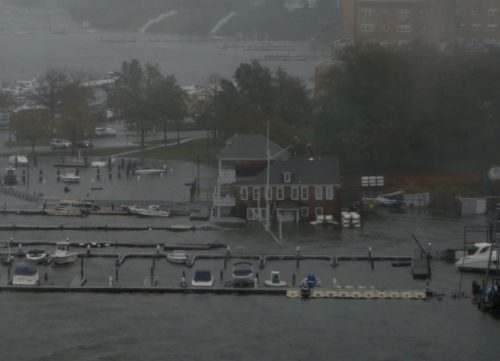 red bank, nj, navesink river, monmouth boat club, flood