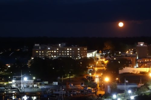red bank, nj, full moon, moonrise