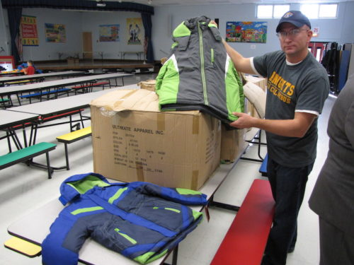 tom wieczerzak, red bank, knights of columbus, coats for kids