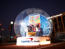 red bank, nj, winter, ice rink, snow globe