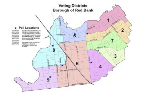 red bank voting district map 2018