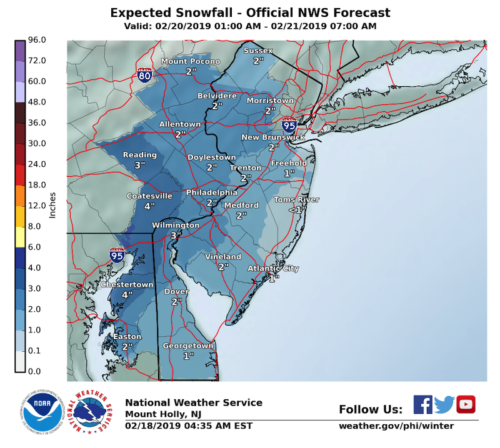 red bank snow forecast