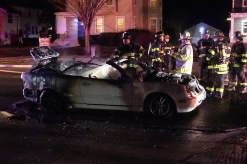 red bank car fire