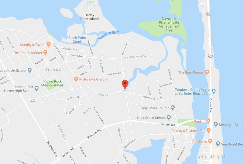 RUMSON: COUPLE IN MOTORCYCLE CRASH - Red Bank Green on zip code map, new jersey shore map, lincroft new jersey map, fort dix range map,