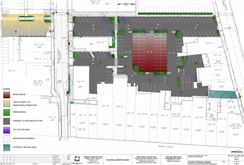 red bank english plaza site plan