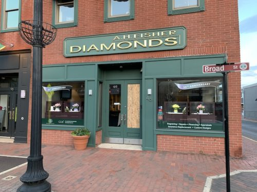 red bank, nj, a.h. fisher diamonds