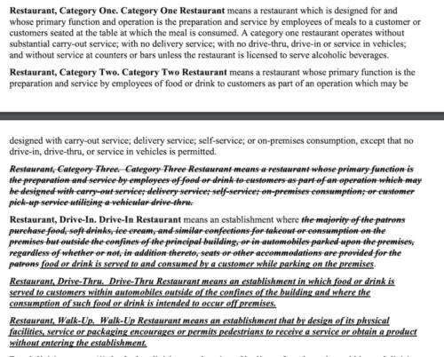 fair haven restaurant ordinance