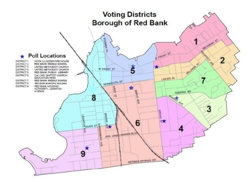Red Bank Voting District Map 2019