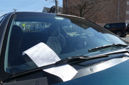 red bank parking ticket